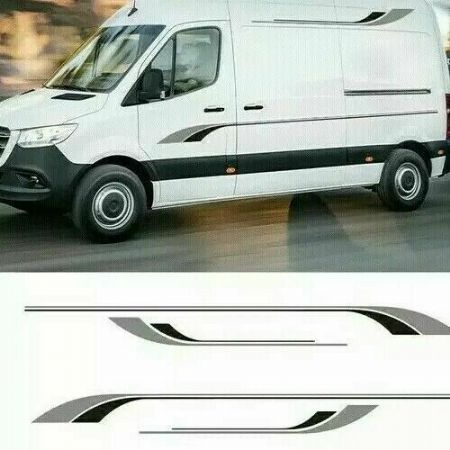 (No.732) 4m x 260mm MOTORHOME GRAPHICS STICKERS DECALS CAMPER VAN CARAVAN UNIVER